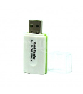 adapateur All in one mémory USB  Blanc