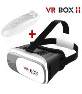 Pack : Casque de Réalité Virtuelle VR Box + Télécommande Bluetooth compatible Android et iOS