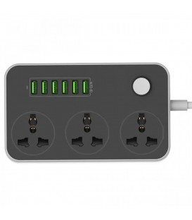 DIGITPLUS SP3604 3 Power Socket 6 USB pour Smartphone et Tablettes