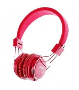 NIA MRH 8809S Micro SD casques avec microphone bluetooth stéréo haute qualité - Rouge