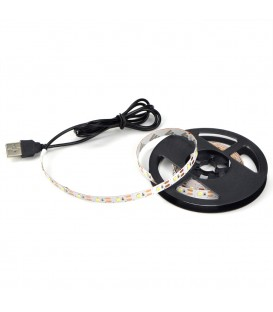 Ruban LED Strip 2 mètres Blanc avec port USB