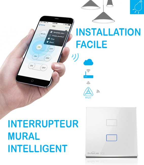 Broadlink TC2 Interrupteur Mural Intelligent