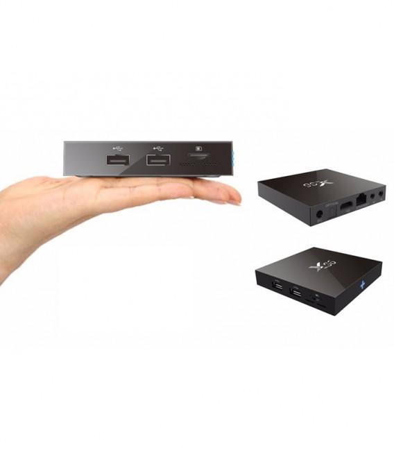 TV Box X96-W 2GB/16GO Amlogic S905W Quad Core avec abonnment IPTV 12 mois