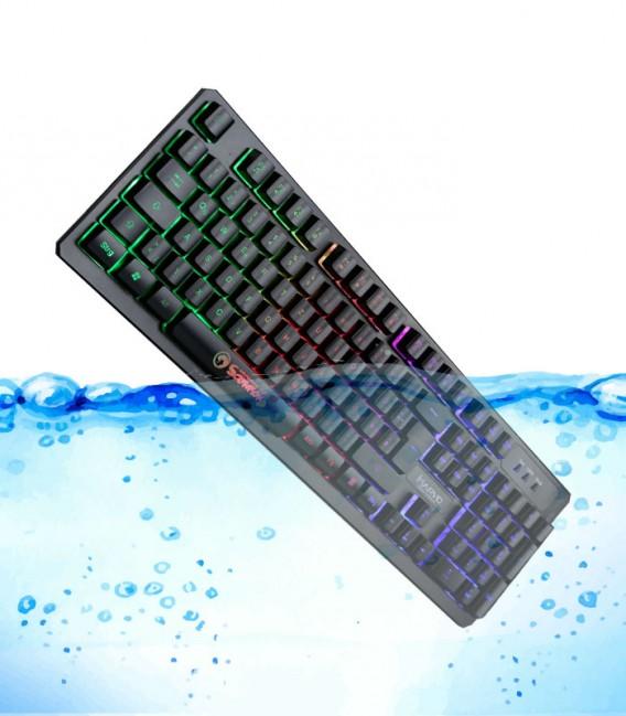 Clavier MARVO K616 gamer rétro-éclairage RVB Waterproof avec Souris Marvo M110 avec 6 boutons et 7 couleurs LED