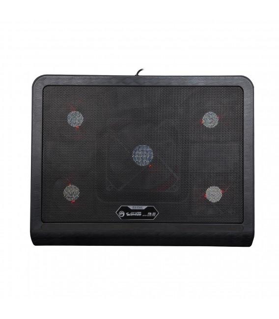 Refroidisseur MARVO FN-33 pour ordinateur portable jusqu'à 17 pouces rétro-éclairage (Rouge)