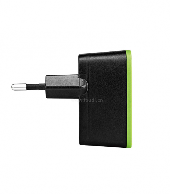 Chargeur pour Smartphone Budi avec 2 ports USB et Câble Micro USB + Lightning
