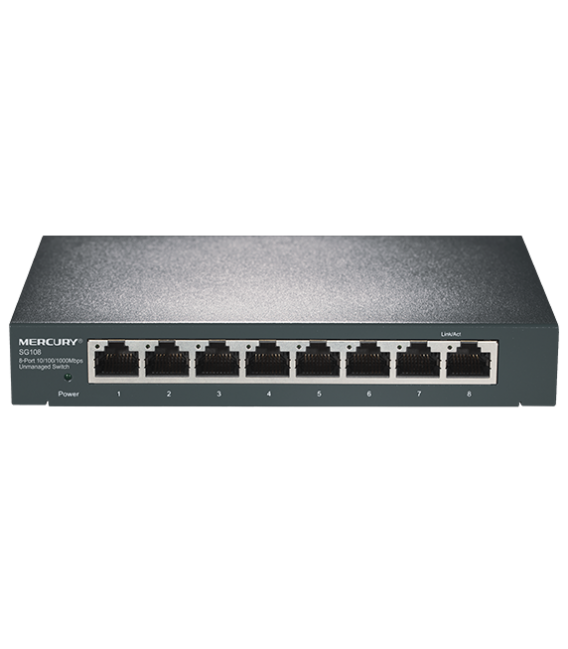 Switch 8 Ports Gigabit Mercury SG108