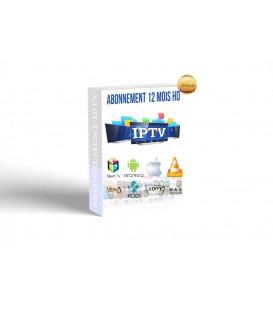 Abonnement IPTV pour 12 mois