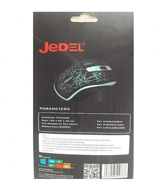 Souris optique JeDEL M68 - Interface: USB - Résolution: 800-1000 DPI
