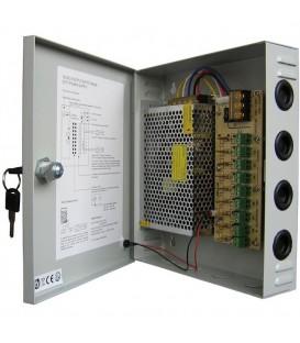 Boite d'alimentation/distribution electrique 12V - 10A - 9 Sorties