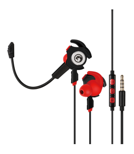 Écouteur Marvo Multi-Platform GP-001 - forme Double-Microphone Gaming Earbuds