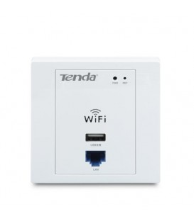 Prise Murale Point D'acce WiFI 300 Mbps PoE USB RJ-45 Tenda W310A