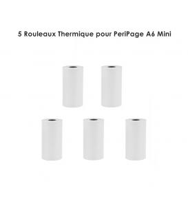 5 Rouleaux Thermique pour PeriPage A6 Mini