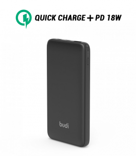 Powerbank Budi M8J086 USB-C 10000mAh avec vitesse Charge 3.0 + PD 18W