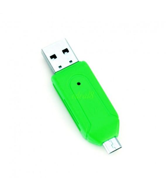 Adaptateur USB SD et Micro SD (Blanc)