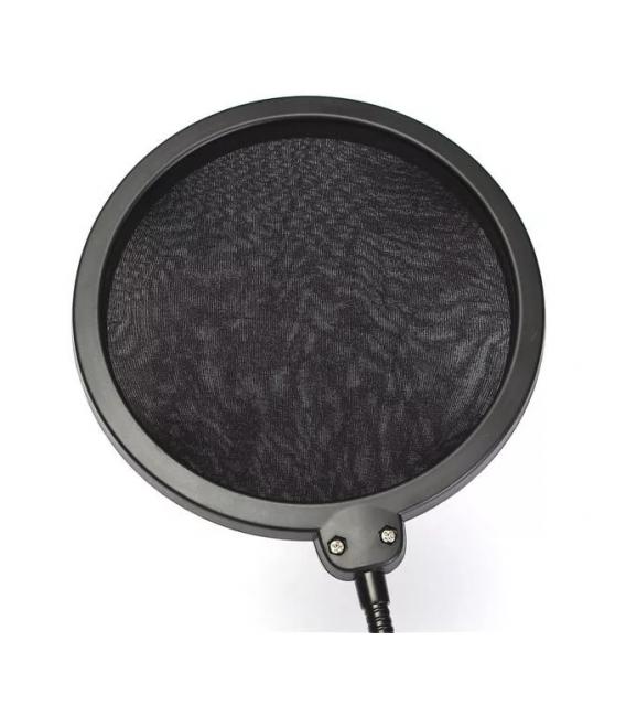 Filtre Anti-pop Protecteur Anti-bruit, Double couche pour Microphone, Avec Support Pivotant 360°