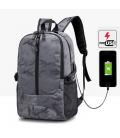 Sac à Dos Pour PC Portable Avec Port de Chargement USB en Style Camouflage