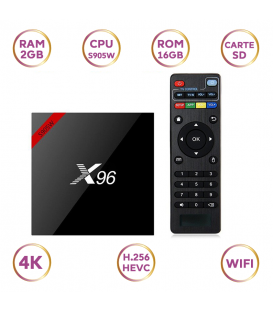 TV Box X96-W 2GB/16GO Amlogic S905W Quad Core