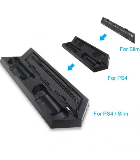 Double Station de Charge pour 2 Manette PS4 avec Ventilateur de Refroidissement
