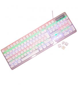 Clavier Mécanique White Switch Rétro-éclairage RGB
