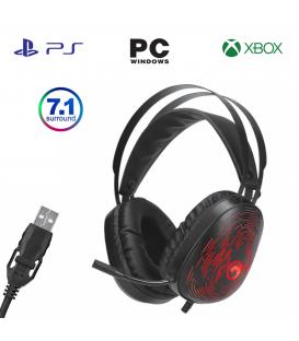 Casque Gamer Marvo HG9049 avec Microphone, Rétro-éclairé 7.1 Surround