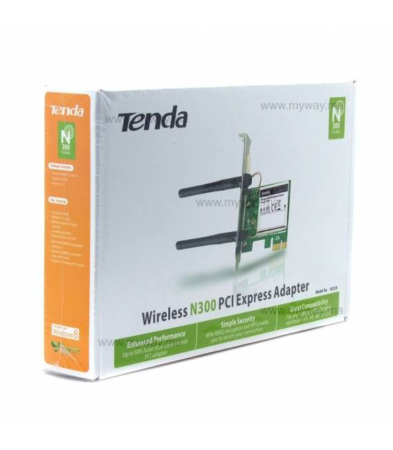 Tenda W322E Carte Wi-Fi PCI-Express 300MBps 2 Antennes
