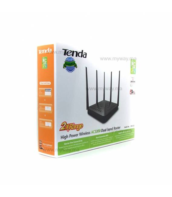 Tenda FH1202 Points d'accès AC1200 High Power - 5 Antennes
