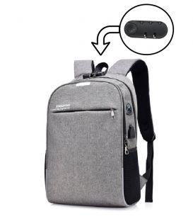 Sac À Dos De Voyage, L'école, Élégant Avec USB Chargeur , Pour Ordinateur Portable.Gris