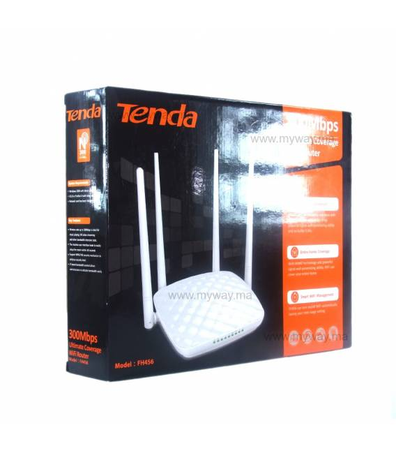 Tenda FH456 Points d'accès Routeur 300Mbps High Power - 4 Antennes