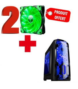 Pack Boîtier Gamer Marvo CA-113 pour ATX, MicroATX et ITX avec 2 Ventilateur MARVO Offerts