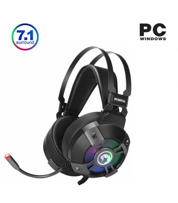 Pack Casque Gamer Marvo HG9015G avec Eclairage LED et Tapis de Souris Gaming