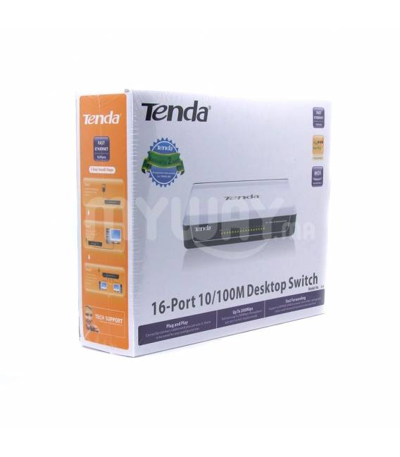 Tenda S16 Switch 16 Ports ETHERNET 1/100 - NON RACKABLE