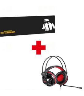 Pack Casque Gamer Stéréo Motospeed H11  avec Microphone et Tapis de Souris BATTLEGROUNDS, Extra Large