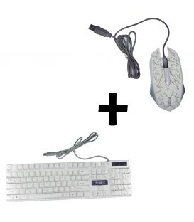 Pack Clavier Gamer Membrane Silencieux  et Souris Gamer RGB