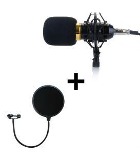 Pack BM-800 Microphone professionnel et Filtre Anti-pop Protecteur Anti-bruit