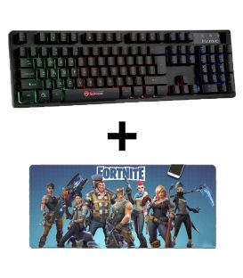Pack Clavier MARVO K616 gamer rétro-éclairage RVB Waterproof et Tapis de Souris Extra Large Fortnite