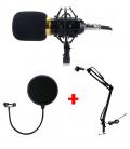 Pack Microphone BM-800 avec Support flexible et Filtre Anti-pop Protecteur Anti-bruit