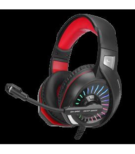 Casque Gamer XTRIKE GH-890 Stéréo Surround avec Microphone Omnidirectionnel, éclairage RGB
