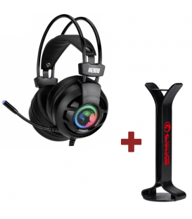 Pack Casque Gamer 7.1 Marvo HG9018 et Support de Casque Gaming MARVO HZ-03