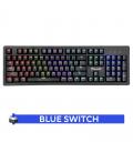 Clavier Gamer MARVO KG916 Mécanique Blue Switch avec Rétro-éclairage RGB
