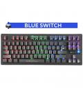 Clavier Gamer XTRIKE GK-979 Mécanique Blue Switch, Rétro-éclairé, avec 87 Touches