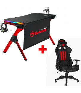 Pack Table Gaming MARVO DE-04  et Chaise De Bureau Marvo CH-106