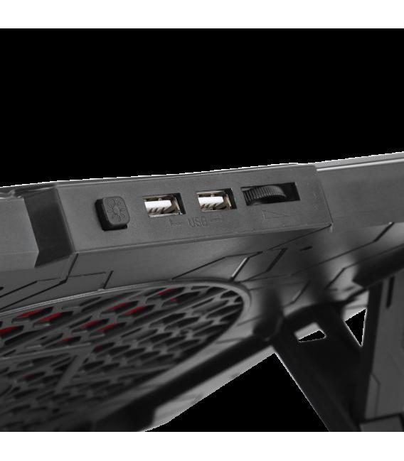 Refroidisseur MARVO FN-30 pour ordinateur portable jusqu'à 17 pouces rétro-éclairage