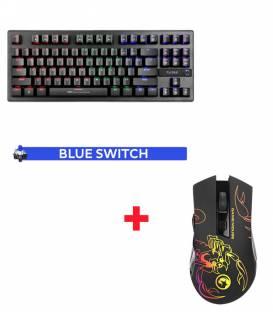 Pack Clavier Mécanique Blue Switch MARVO KG901 et Souris Marvo M209 avec 6 boutons