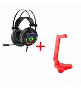 Pack avec Casque Gamer MARVO HG9062 7.1 USB Surround avec Support De Casque Marvo HH-02