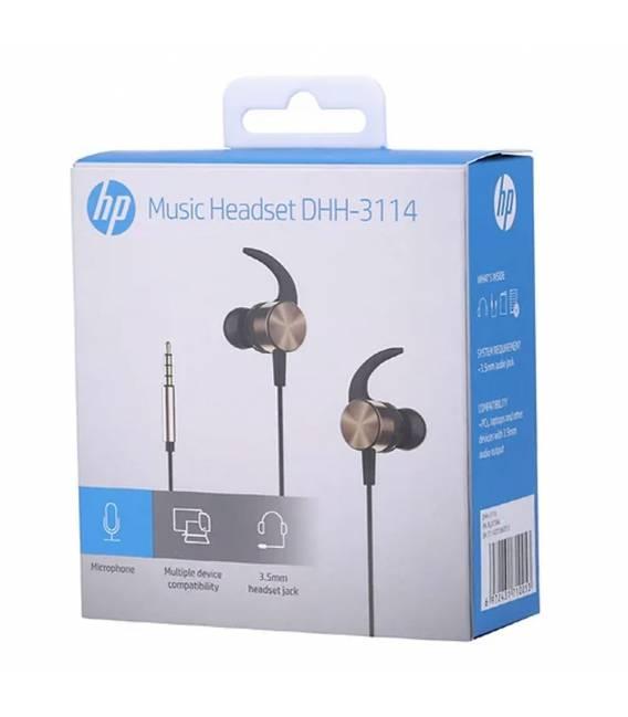 Ecouteurs Filaire HP DHH-3114 avec Microphone pour PC et Mobile (Gold)