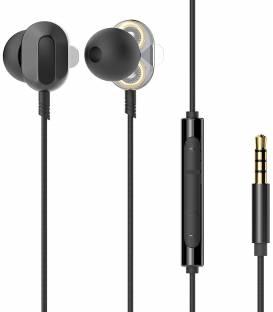Écouteurs intra-auriculaires HP DHE-7003 avec contrôle du volume et microphone, noir