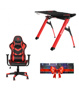 Pack Gaming avec Table Gaming FANTECH GD612 et Chaise de Bureau Marvo CH-106 ET COMBO Cadeau
