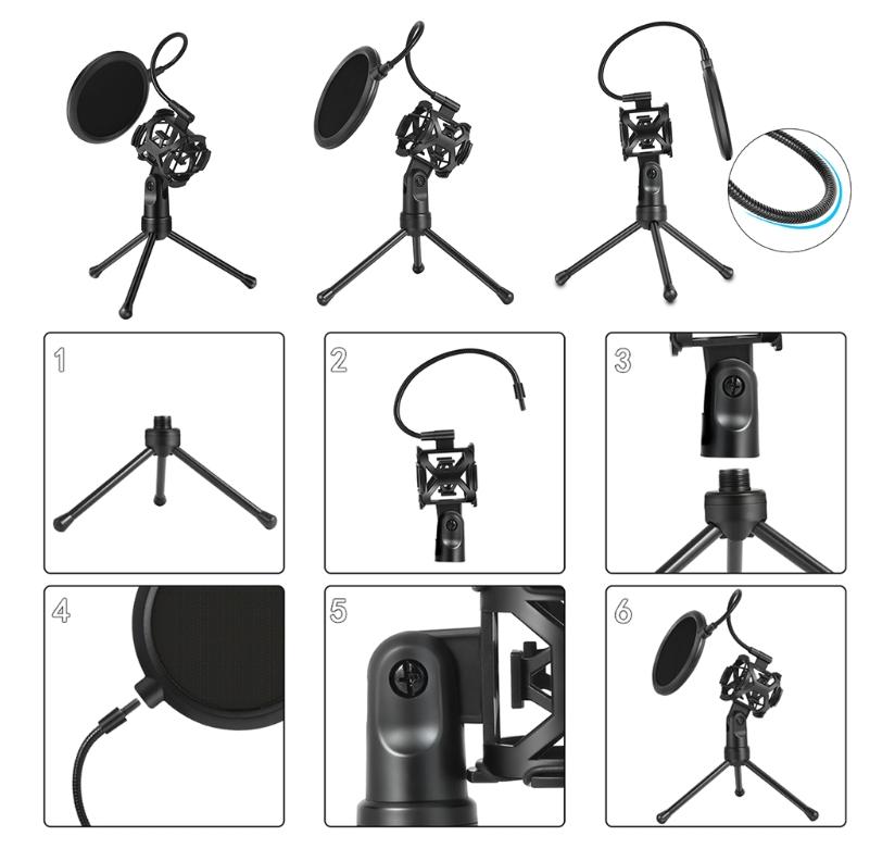 Support Trépied de Microphone