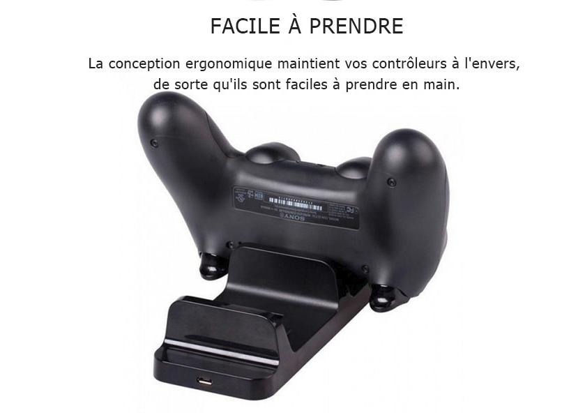 Double Station de Charge pour 2 Manette PS4